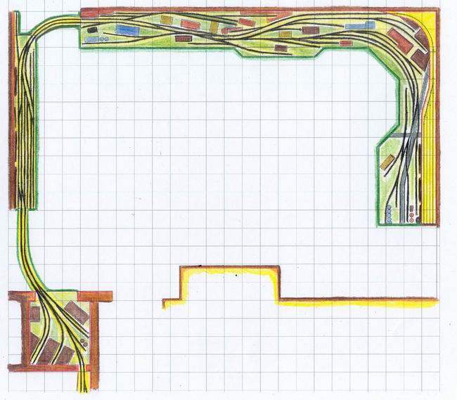Track Plan of my Camas Prairie switching layout